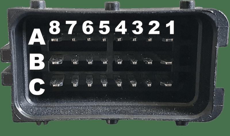 Delphi SICMA Black Connector